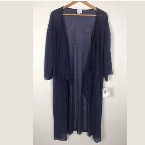 LuLaRoe Shirley Blue Cardigan Kimono NWT